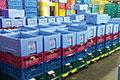 容器サイズの統一化で異なる温度帯管理の食材を効率配送